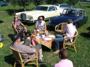 Extravagante picknick in juli 2005