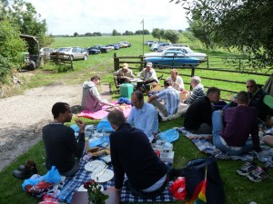 Picknicken op het landgoed in 2009