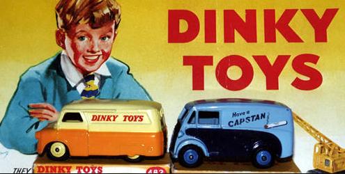 Oud beeldmerk van Dinky Toys