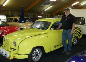 Harm bij een Saab