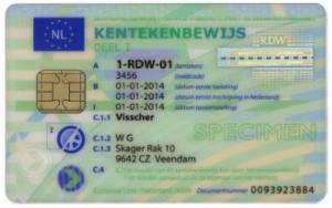 Op de beveiligde kentekencard staan 30 gegevens van het voertuig en de eigenaar/houder.
