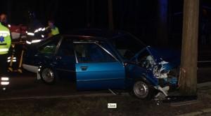 Ravage na het auto-ongeluk met de Simca 1308GT